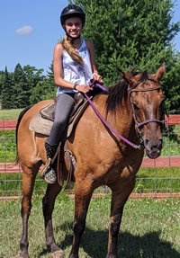 Dusty is a 14 year old Quarter horse that is super fun to ride.